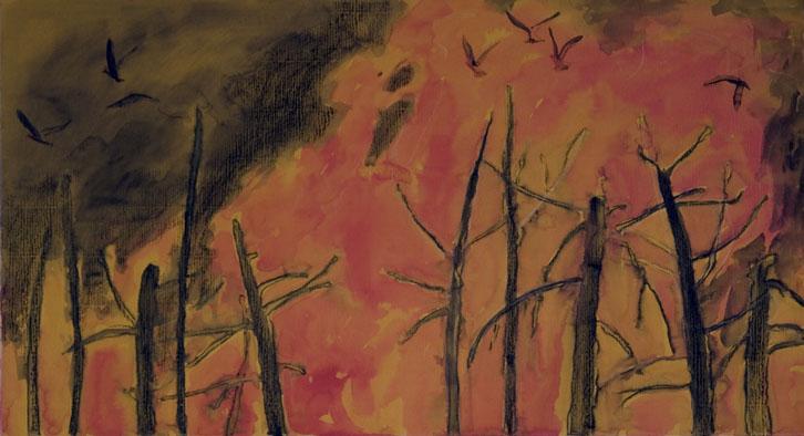 """akvarell \""""Leekides\"""""""