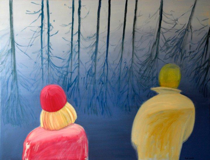 """õlimaal \""""Varakevad, Emajõgi\"""" , oil painting \""""Spring near Emajõgi\"""""""