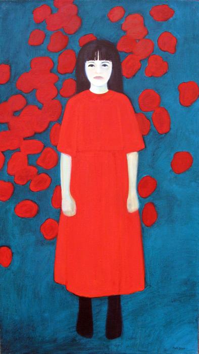"""õlimaal \""""Helge ja punased roosid\"""" / oil painting \""""Helge and Red Roses\"""""""