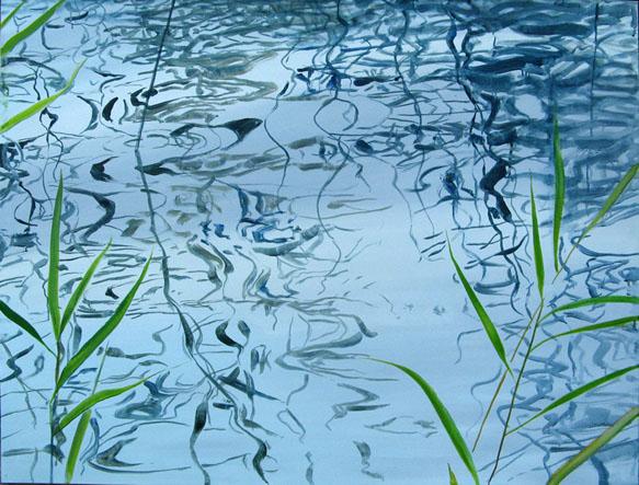 """õlimaal \""""Suvesinine I\"""" / oil painting \""""Summerblue I\"""" 2009"""