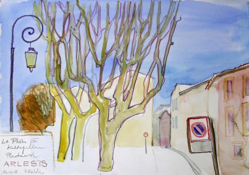 """akvarell \""""Arles\"""" / aquarelle"""