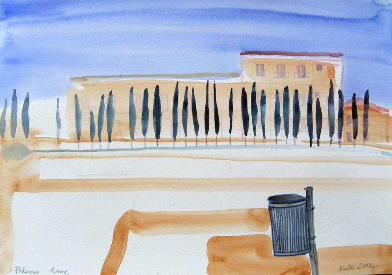 "akvarell \""Palermo\"" / aquarelle"
