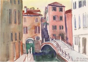 """akvarell \""""Veneetsia\"""" II /  \""""Venice\"""" II aquarelle"""