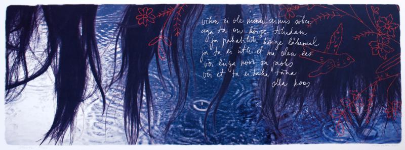 "lito \""Vihmaviis\"" (Andra Teede luuletus) / \""Song of Rain\"" (lyric by Andra Teede) algraphy"