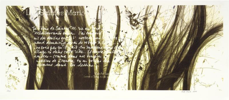 "lito \""Vincenti kiri Vahemere äärest, 1888.a. I\"" / \""Vincent\'s letter from Mediterranean 1888 I\""  algraphy"