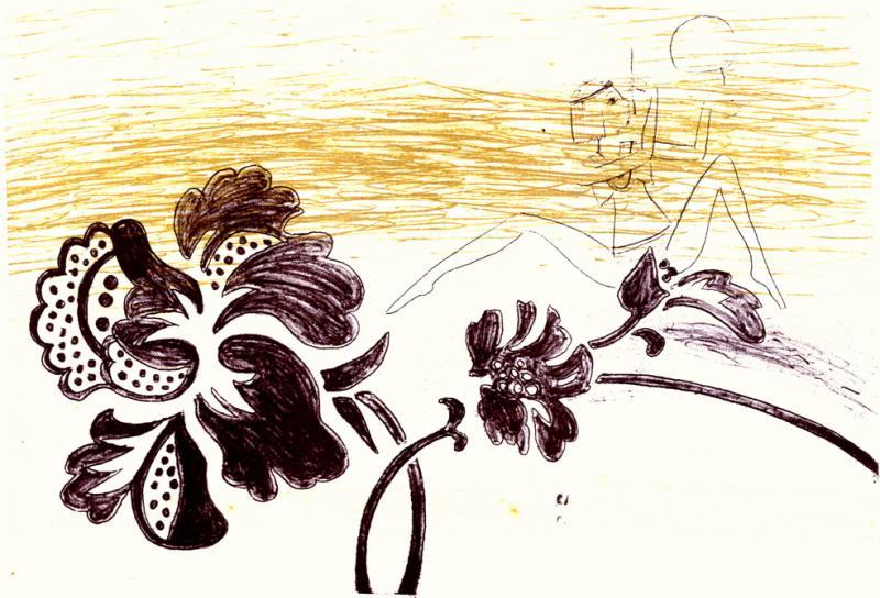"""lito \""""Egiptuse aed\"""" / \""""Egiptian garden\"""" algraphy"""
