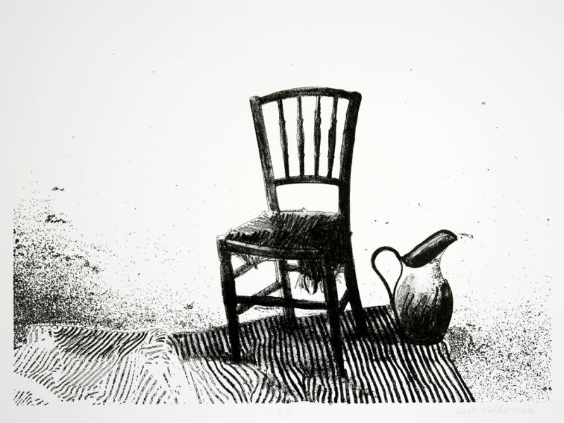 "lito ""Vaikelu kreeka tooliga\"" / \""Still-life with Creek Stool\"" lithography"