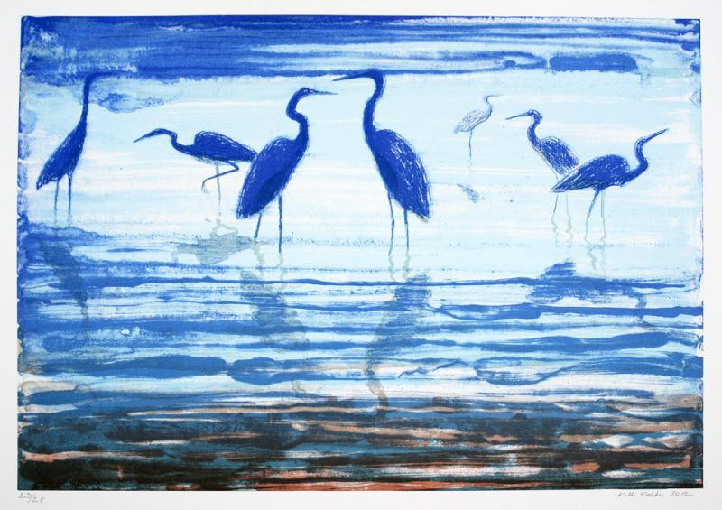 """lito \""""Haigrud\"""" / \""""Egrets\"""" algraphy"""