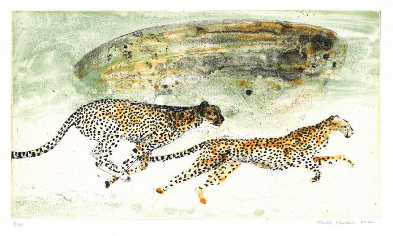 "lito ""Vabadusse põgenemine"" / ""Escaping cheetahes"" algraphy"