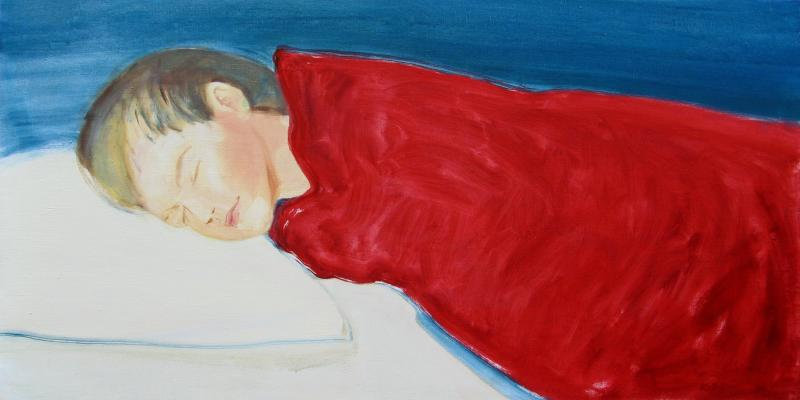 "õlimaal ""Magab\"" / oil painting \""Sleeping Jaanus\"""