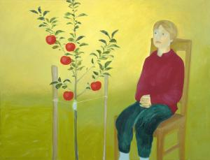 """õlimaal \""""Ootab õunu\"""" / oil painting \""""Waiting the appletree\"""""""