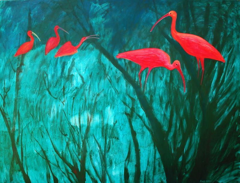 """õlimaal """"Amazonase punased iibised"""""""