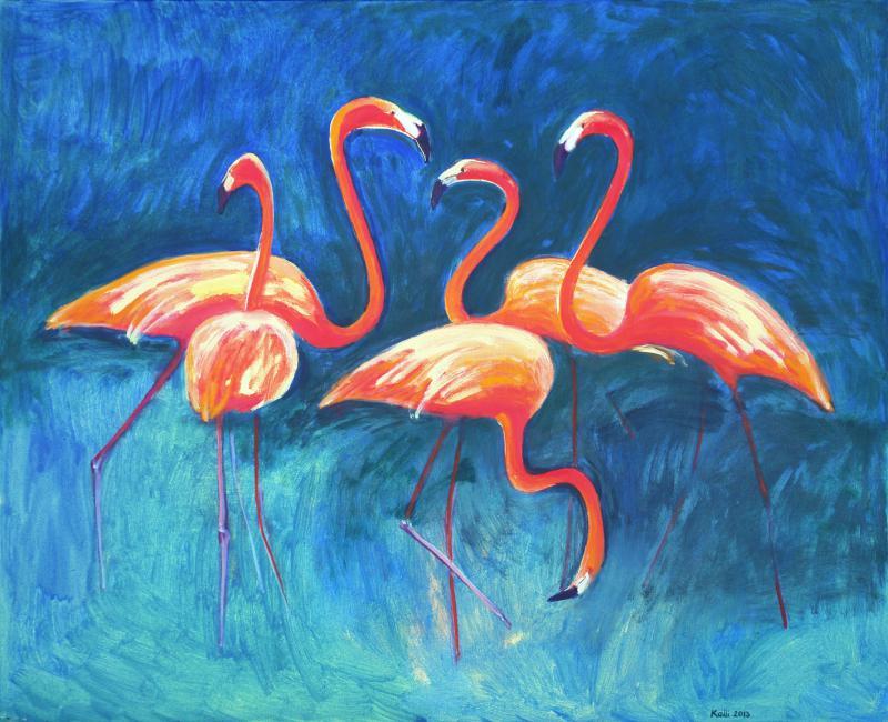 """õlimaal """"Roosad flamingod"""""""