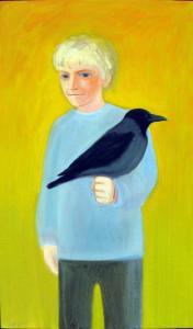 "õlimaal \""Kristjan varesega\"" / oil painting \""Kristjan with the Raven\"""
