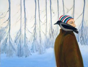 """õlimaal \""""Ove ja varakevadine vares\"""" / oil painting \""""Ove and Raven\"""""""