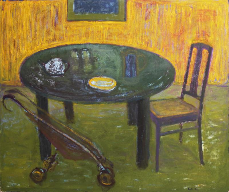 "õlimaal ""Kollane vaikelu\"" / oil painting \""Yellow still life\"""