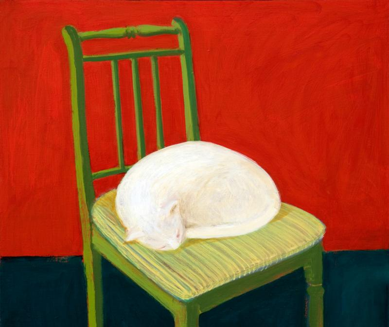 "õlimaal \""Valge kass\"" / oil painting \""White cat\"""
